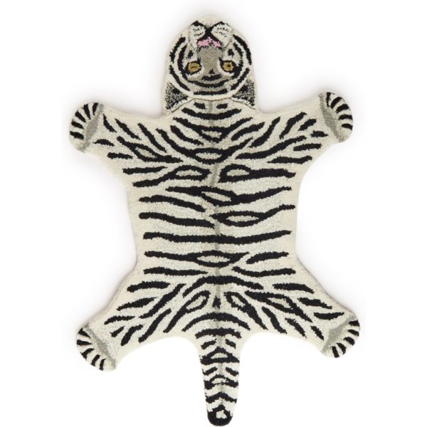 Doing Goods Snowy Tiger Small vloerkleed 87 x 65 cm