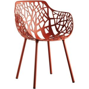 Fast Forest Armchair tuinstoel Coral Red set van 4