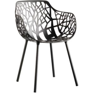 Fast Forest Armchair tuinstoel Metallic Grey set van 4