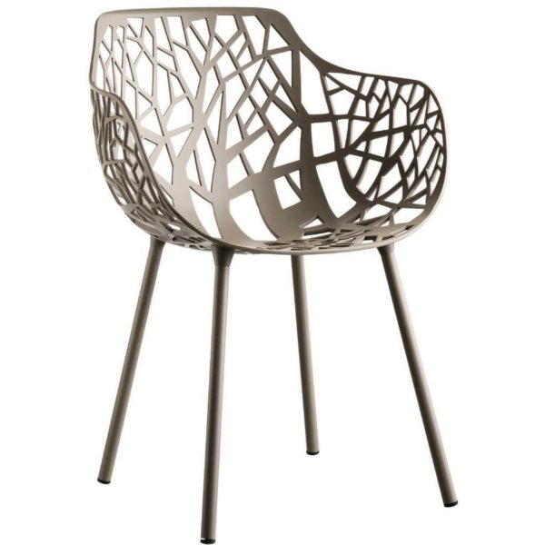 Fast Forest Armchair tuinstoel Pearly Gold set van 4
