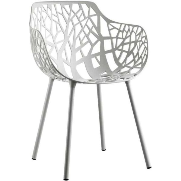 Fast Forest Armchair tuinstoel Powder Grey set van 4