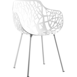 Fast Forest Armchair tuinstoel White set van 4