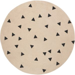 Ferm Living Black Triangles vloerkleed 130