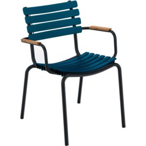 Houe Clips Bamboo Armchair tuinstoel midnight blue set van 2