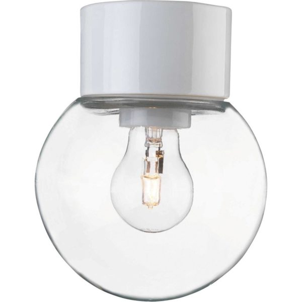 Ifö Electric Classic Globe plafond-en wandlamp porselein IP54 150mm