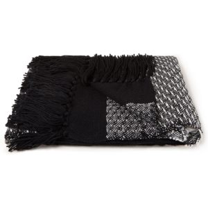 Malagoon Black 'n White Fringe plaid 150 x 125 cm