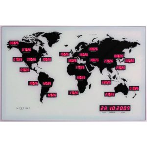 NeXtime World Time wandklok 55 cm