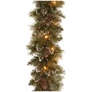 National Tree Company Glittery Bristle kerst guirlande 2