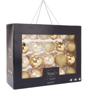 Decoris Kerstbal set 42-delig