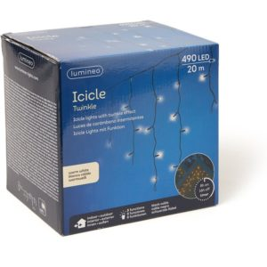 Lumineo Icicle Twinkle kerstverlichting 20 meter