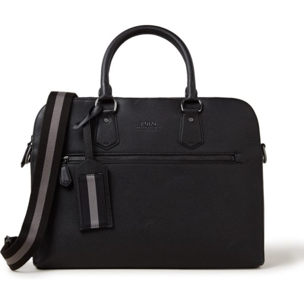Ralph Lauren Businesstas van leer met 15 inch laptopvak