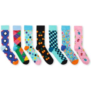 Happy Socks 7-Day sokken met print in 7-pack giftbox