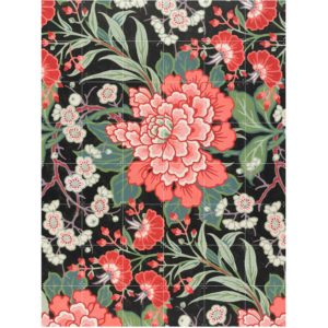 IXXI Textile Design with Flowers