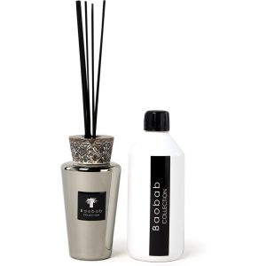 Baobab Collection Mini Totem Platinum geurstokjes 250 ml met navulling 500 ml